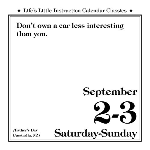 Life's Little Instruction 2017 Day-to-Day Calendar