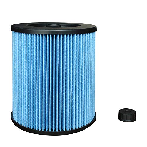 125 Wet Dry Filter - Wet/Dry Cartridge Replacement Filter for Shop Vac Craftsman 17907 9-17907 Vacuum Cleaner Part, 1 Pack