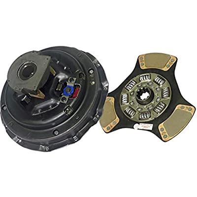 """IATCO 107684-5-IAT 14"""" x 1-3/4"""" Stamped Steel Clutch (Single-Plate, 3-Paddle / 8-Spring, 3200 Plate Load / 650 Torque): Automotive"""
