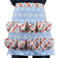 Hoocozi Egg Gathering Apron Egg Holder, 12 Pockets Apron for Collecting Hense Eggs, Duck/Teal/Goose/Chicken Egg(Dandelion)