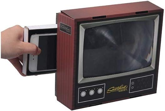 YM09 Conveniente Practico 3D Pantalla del teléfono móvil TV Amplificador Lupa Mini Retro pequeño 8 Pulgadas Lupa con Soporte Plegable Soporte for Cualquier teléfono Inteligente Película de vídeo: Amazon.es: Electrónica