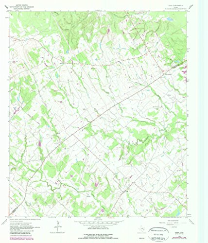 YellowMaps Edge TX topo map, 1:24000 Scale, 7.5 X 7.5 Minute, Historical, 1962, Updated 1989, 26.9 x 23 in - ()