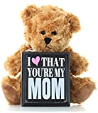 Mom-Gifts-Mothers-Day-Gift-from-Daughter-Son-or-Kids-for-Birthday-Christmas-Thank-You-Gift-Teddy-Bear-and-Mom-Plaque-Best-Present-for-Mother-in-Law-Step-Mom-or-First-Mothers-Day-for-New-Moms