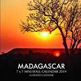 Madagascar 7 x 7 Mini Wall Calendar 2019: 16 Month Calendar