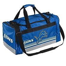 NFL Detroit Lions Striped Core Duffle Bag, Medium, Blue