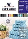 American Soft Linen Towel Set, 2 Bath Towels 2 Hand