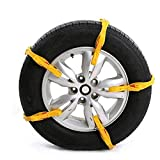 ChainSee Truck Car Tire Snow Chains Easy Installation Tension Double Buckle Straps Emergency Anti-skid Belt (Yellow)