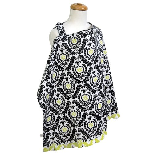Trend Lab Waverly Rise and Shine Nursing Cover, Black/White