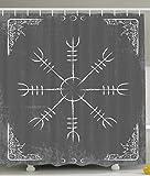 Ambesonne Alchemy Sign Symbol Alchemist Mystic Meditation Treatment Cure Health Eastern Science Spirit Zen Yoga Spa Decorations for Bathroom Gray and White Shower Curtain Home Decor