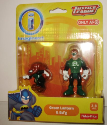 Imaginext, DC Comics Justice League, Green Lantern & Bd'g Figures