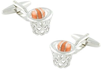 MasGemelos - Gemelos Canasta Baloncesto Cufflinks: Amazon.es: Joyería