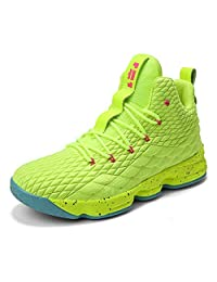 COSDN Womens Mens Fashion High-Top Lightweight Basketball Shoes Sports Breathable Running Flyknit Youth Sneakers