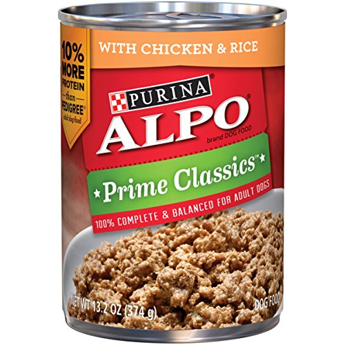 Purina ALPO Prime Classics With Chicken & Rice Dog Food - (12) 13.2 oz. Pull-top Can