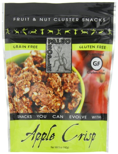 Paleo People Gluten Free Fruit & Nut Clusters, Apple Crisp, 5 Ounce (Pack of 3) - Apple Almond Crisp