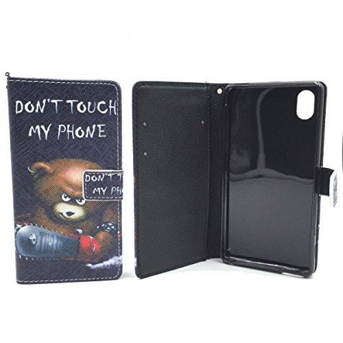 König-Shop teléfono Mobile Phone Case Cover Pochette de protección caja Case Cover Case Shell Case teléfono Shell bolsillo teléfono con soporte función de los diseños soportar DONT Táctil My Teléfono