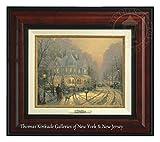 Thomas Kinkade A Holiday Gathering 9'' x 12'' Canvas Classic (Burl)