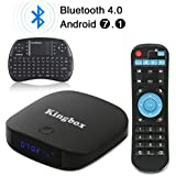 2018 Kingbox Android TV Box with Free Wireless Keyboard, K1 Plus Android 7.1 Box Support 4K (60Hz) Full HDMI/H.265/Bluetooth 4.0/2.4GHz WiFi Android Smart TV Box (2G RAM/8G ROM)