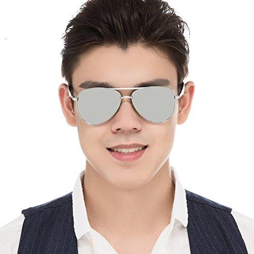 Clásico Color Aviadores Polarizadas De TIANLIANG04 Silver Cool Gafas Trajes Los De Silver Guía Gafas Gafas De De Sol Silver Hombres Silver De Sol TYtOqZY