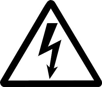 Amazon Com High Voltage Symbol Sticker High Voltage Symbol Die Cut