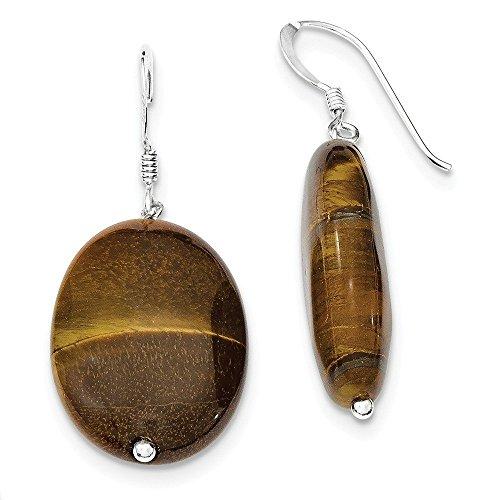 - Sterling Silver Tiger's Eye Dangle Earrings