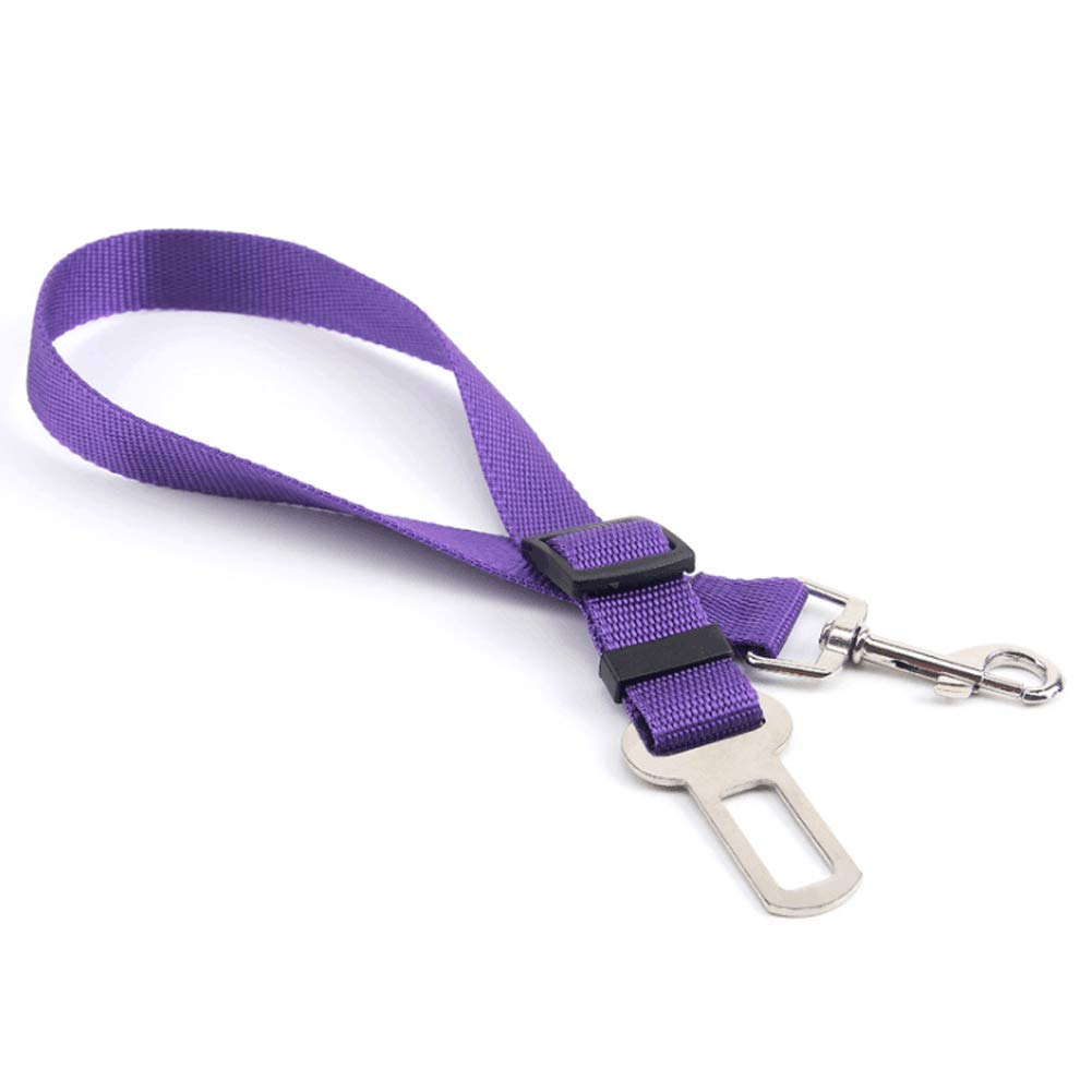 GBY Dog seat Belt, pet car seat Belt, car Safety Buckle, Dog Out Protection Rope, Suitable for Large, Medium and Small Dogs, pet car seat Belts-Purple by GBY