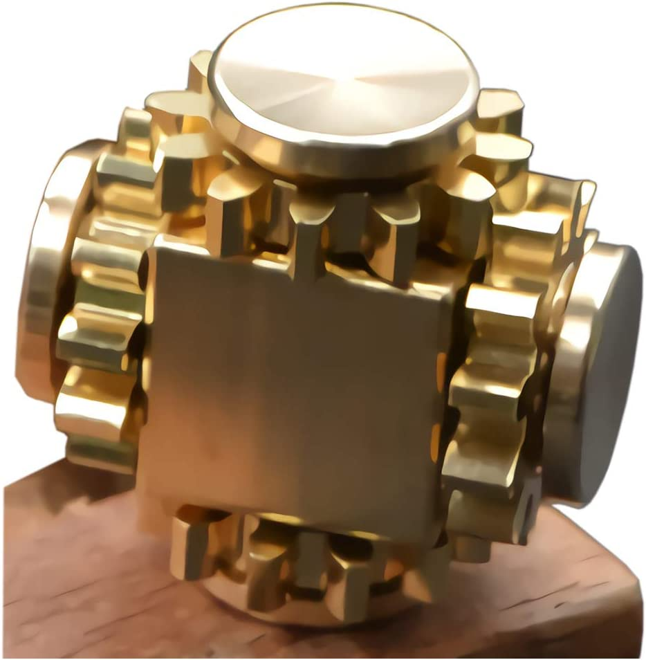 Pure-Brass-Fidget-Cube/