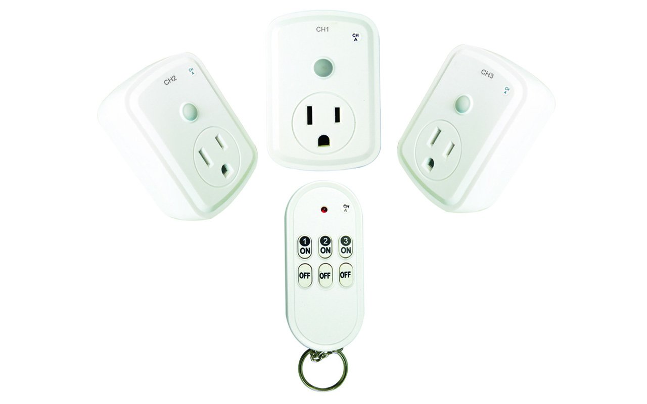 HousePlus 3 Outlets Wireless Remote Control, light remote control outlet Indoor