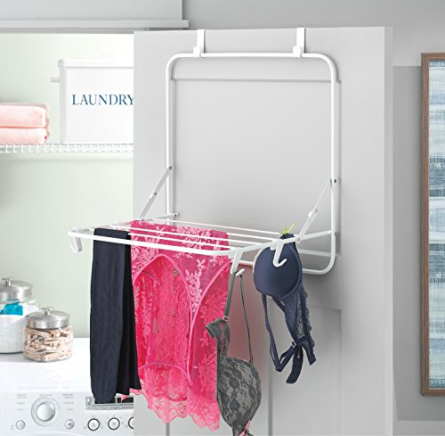 Charmant Laundry Over The Door Clothes Drying Rack Compact Design Small Space  Solution