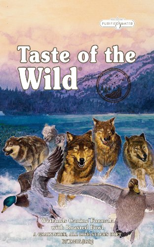Taste of the Wild Dry Dog Food, Wetlands Canine Formula with Roasted Wild Fowl, 30-Pound Bag