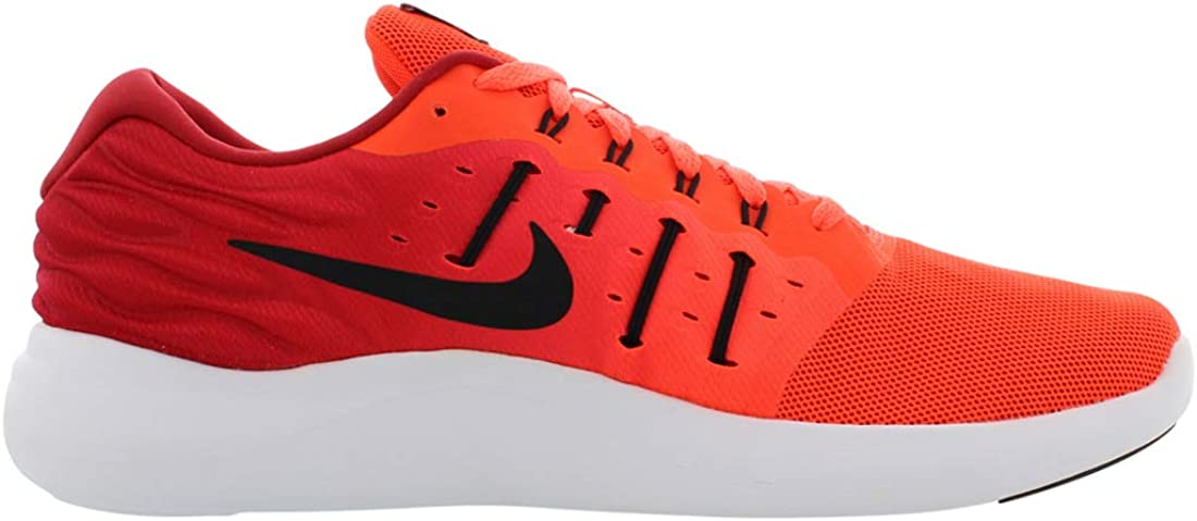 Nike Mens Lunarstelos Low Top Lace Up Running Sneaker Total Crimson/Gym Red/White/Black