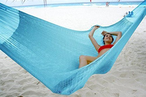 Hammocks Rada- Handmade Yucatan Hammock - Matrimonial Size Sky Blue Color - True Comfort, True Quality, World's Best Handmade Hammock- 100% No-Hassle Satisfaction Guarantee (Hatteras Hammock Chair)