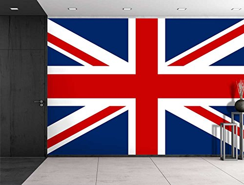 Large Wall Mural Union Jack The UK Flag Vinyl Wallpaper Removable Decorating