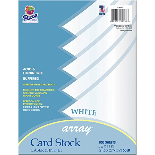 Pacon Card Stock, 8 1/2-inches by 11-inches, White, 100 Sheets (101188)  ()