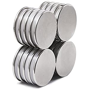 Powerful Disc Neodymium Magnets ( 20 Pack ) - 1.26D x 0.08H