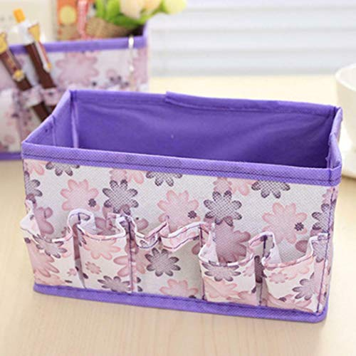 MOPOLIS Portable Make Up Cosmetics Jewelry Storage Box Organizer Holder Container Case | Colors - Purple