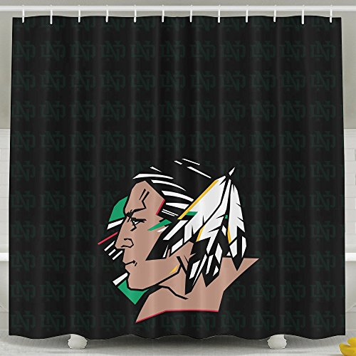IWKULAD University Of North Dakota Fighting Sioux Customized Shower Curtains