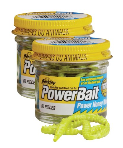 Berkley EBPHWY PowerBait Power Honey Worm, Yellow, 1-Inch, Outdoor Stuffs