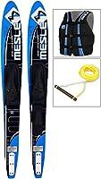 MESLE Comboski-Set SC Hybrid 163 cm blau, Wasserski-Paket mit Weste und Leine