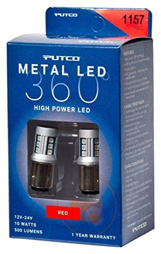 Putco Lighting 341157R-360 Metal LED 360 1157 Bulb Type Red Metal LED 360 by Putco