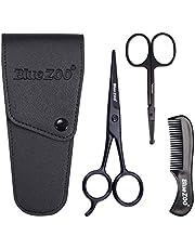 Baardschaar/neusschaar/snor kam Multi functies verzorging Kit Gift Set Baard Trim Scissor Kit Trimmen Nasaal Haar voor mannen met opbergtas