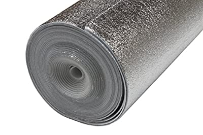 1 Roll Of 200SQFT AMERIQUE Flooring Underlayment Silver Padding with Vapor Barrier 3-in-1 Heavy Foam 2mm Thick, 200SF/Roll