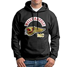CCABB8 Men's Hells Angels Motorcycle Club Long Sleeve Sweatshirt Hoodies XX-Large