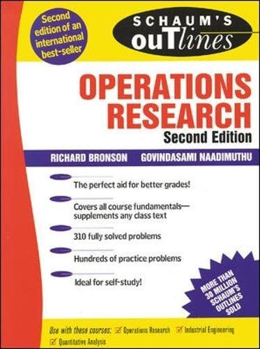 Schaum's Outline of Operations Research