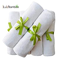 "Baby Washcloths-Natural Color 6 Pack Baby Wipes. Extra Large 10.6""x10.6"". Sof..."