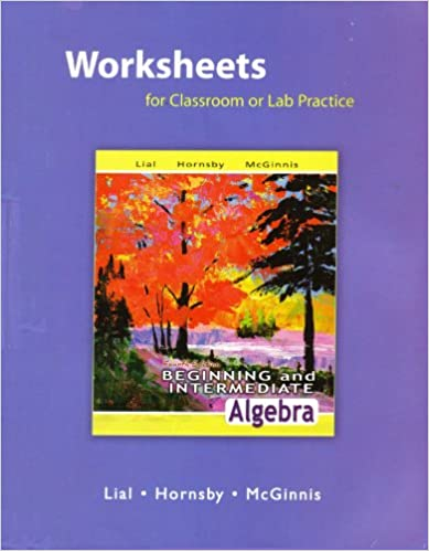 Worksheets for Classroom or Lab Practice for Beginning and ...