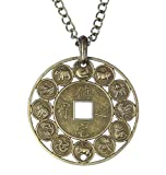 """Chinese Zodiac"", the Complete Chinese Zodiac Pendant on 26 Inch Adjustable Chain"
