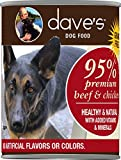 Dave's Premium Beef & Chicken 95% Meat for Dogs, 13 oz Can (Case of 12) Review