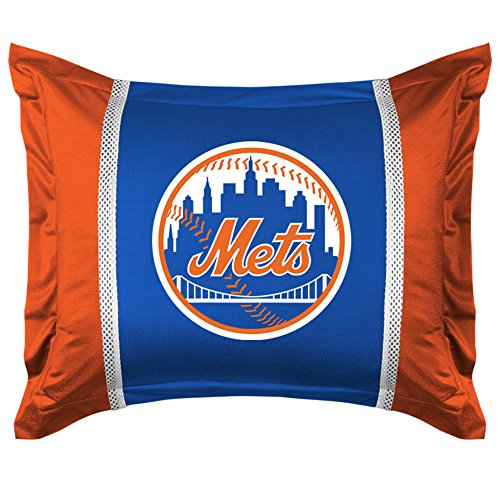 Sports Coverage MLB New York Mets Sidelines Pillow Sham - New York Mets Pillow