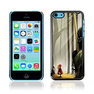 Designer Depo Hard Protection Case for Apple iPhone 5C / Red Riding Hood & Wolf
