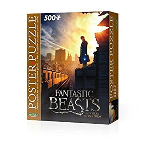 WREBBIT 3D Fantastic Beasts Ny City Poster Puzzle (500 (Teaser Poster Puzzle)